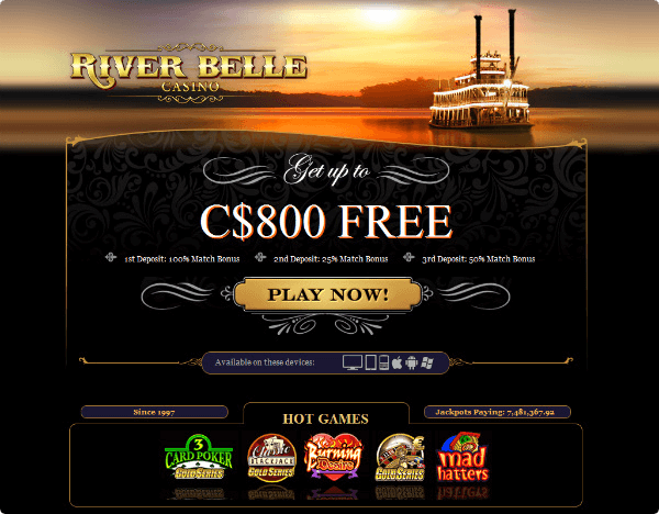 River belle casino free play no deposit free casino bonus for us players