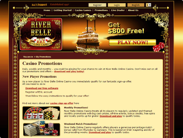 River Belle Other Promotions