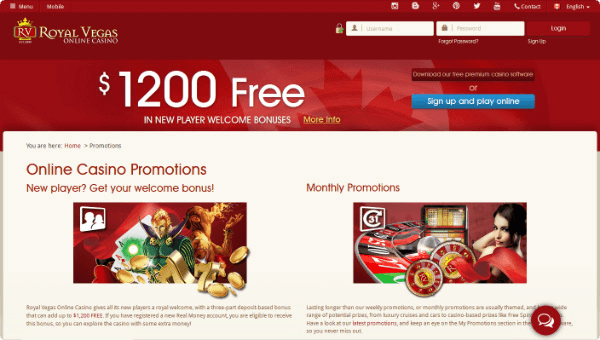 Royal Vegas Promotions