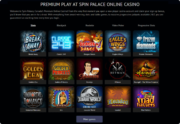 Spin Palace Games