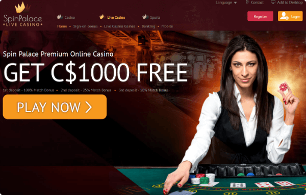Spin Palace Live Roulette