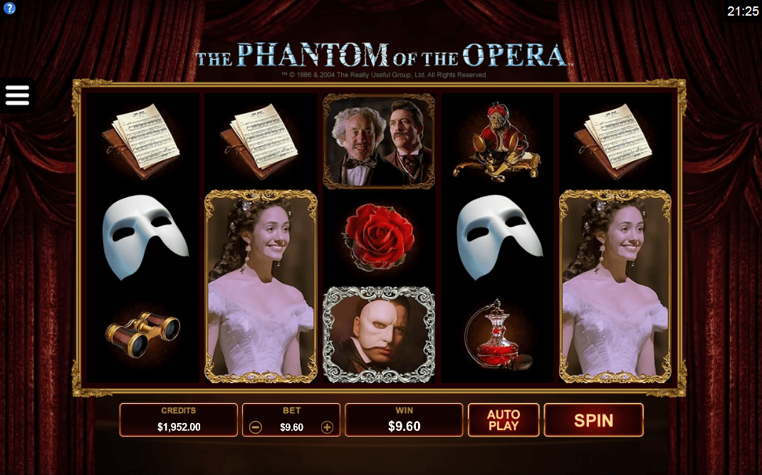 Spiele The Phantom Of The Opera (Microgaming) - Video Slots Online
