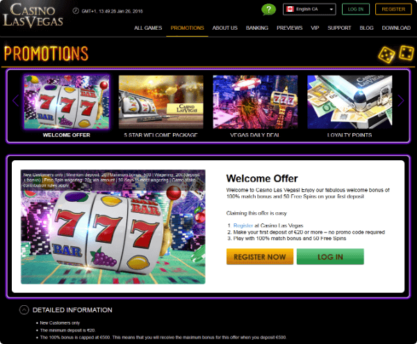 Casino LasVegas promotions