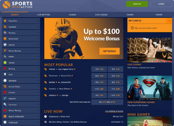 Sports Interaction Betting