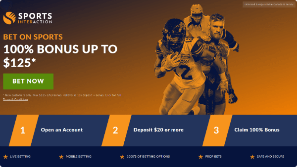 Sports Interaction Betting Bonus