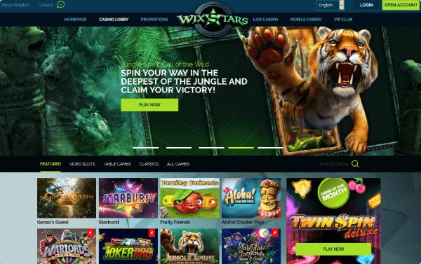 Wixstars Casino games