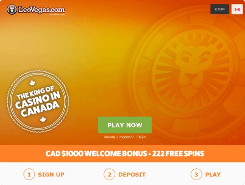 LeoVegas Casino - C$ 1000 in Welcome Bonuses + 222 Free Spins