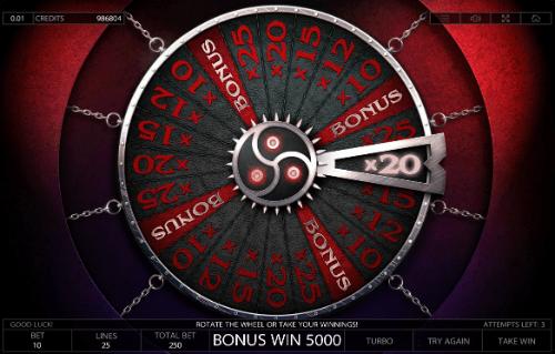 Taboo Bonus Wheel