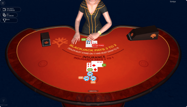 Sonya Blackjack table2