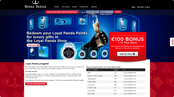 Royal Panda Casino loyal points