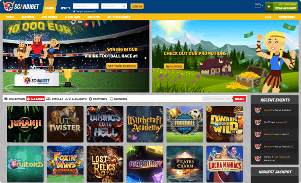 Scandibet Casino games