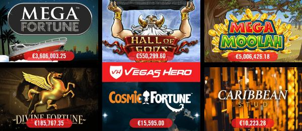 Vegas Hero Casino Jackpots