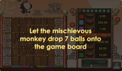 Monkey Drop game board
