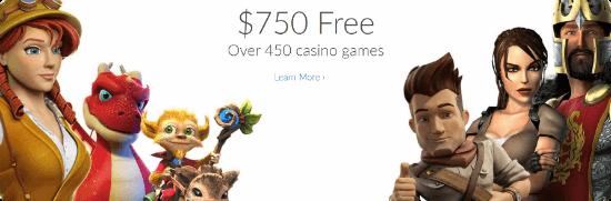 Ruby Fortune Casino - 450 casino games
