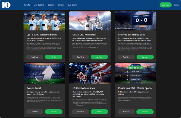 10Bet Sports Promotions
