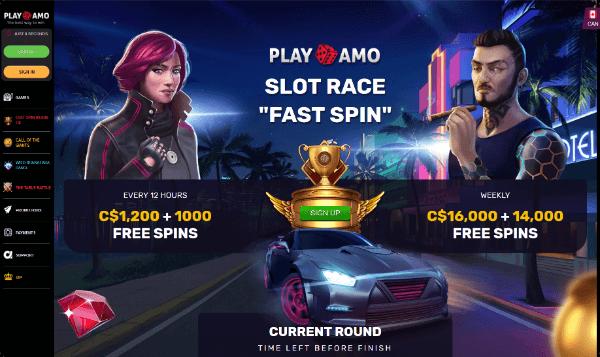 PlayAmo Casino Slot Race