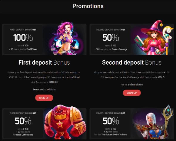 CasinoChan Promotions