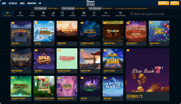 Dream Vegas Casino Games