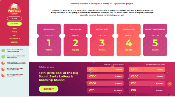 Maneki Casino Lottery