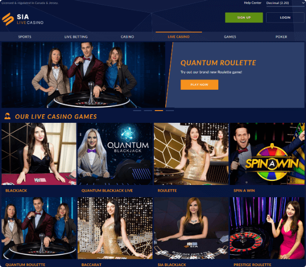 SIA Casino Live