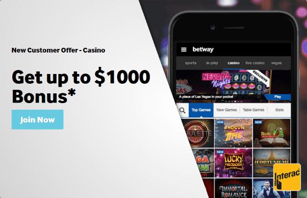 Betway Casino Bonus Terms